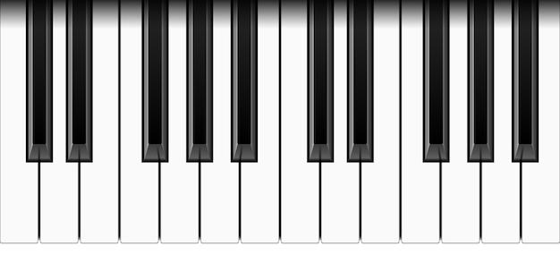 Tasti di pianoforte realistici Vettore Premium