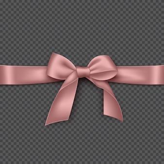 Fiocco rosa realistico e nastro.