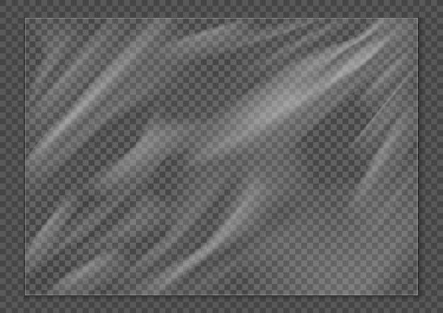 Texture realistica dell'involucro di plastica copertura in polietilene allungato superficie rugosa