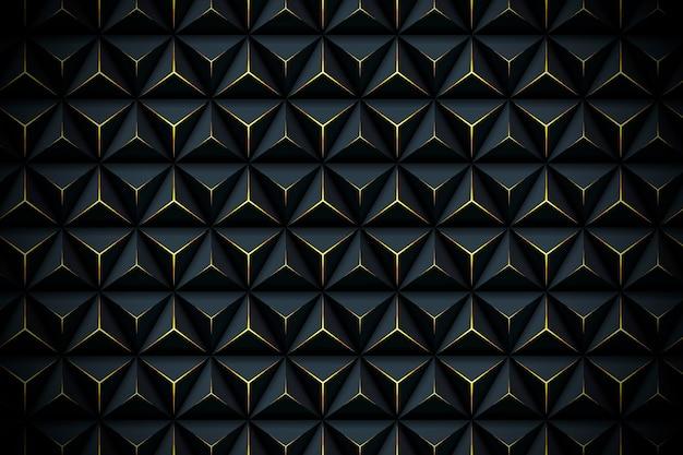 Sfondo poligonale realistico con dettagli dorati