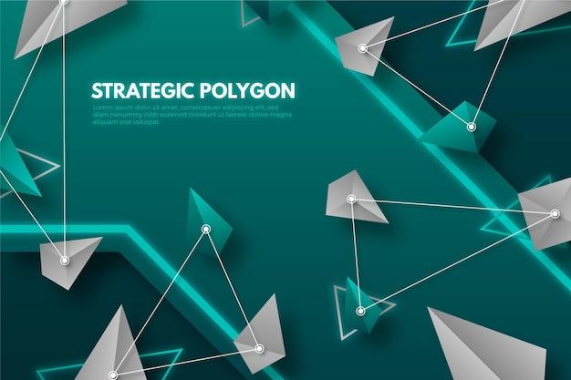 Sfondo poligonale realistico