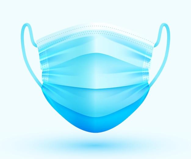 Maschera facciale medica protettiva realistica. protezione dal virus.