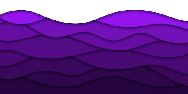 Sfondo realistico strato di carta viola tagliato per la decorazione e la copertura. concetto di astratto geometrico.