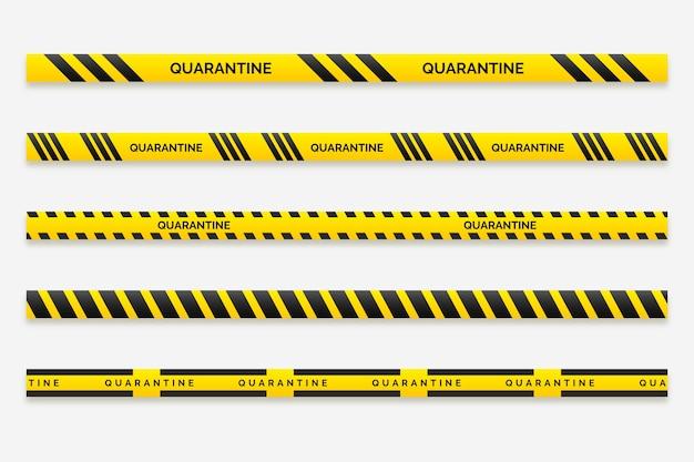 Realistico concetto di strisce di quarantena