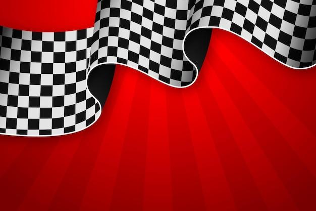 Sfondo bandiera a scacchi da corsa realistico