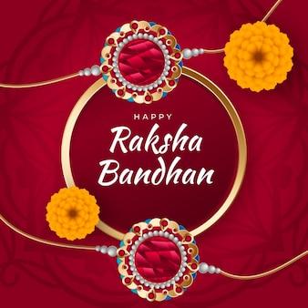 Illustrazione realistica di raksha bandhan
