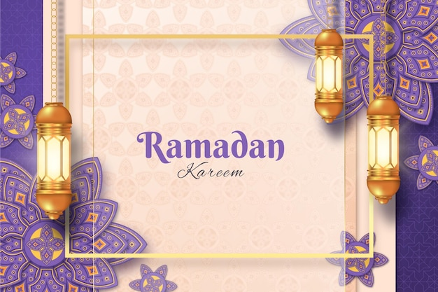 Sfondo realistico di ramadan kareem