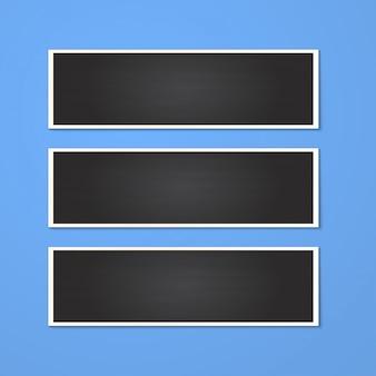 Cornice per foto rettangolo realistico isolato