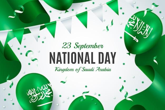 Sfondo realistico della festa nazionale saudita