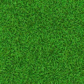Realistico prato verde senza soluzione di continuità. erba la struttura del tappeto, il modello fresco della copertura della natura, l'erba verde del giardino e il fondo del prato delle erbe. calcio, trama del campo di calcio