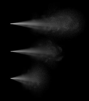 Insieme realistico di varie nebbie spray