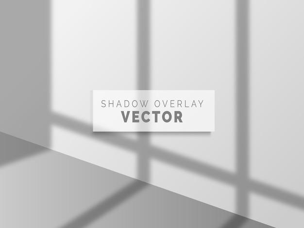 Vettore di sovrapposizione di ombre realistiche su muro pulito