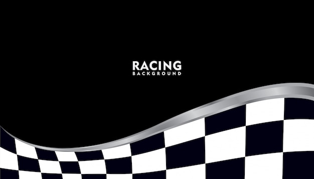 Realistico argento metallico da corsa sullo sfondo, racing sfondo quadrato
