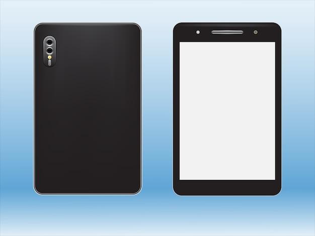 Smart phone realistici con cameraphone Vettore Premium