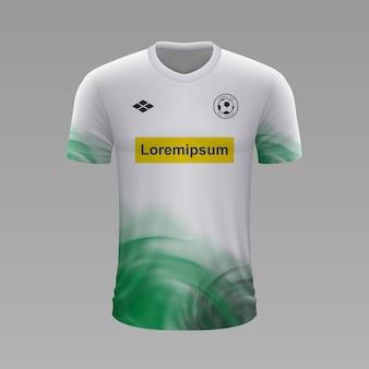 Maglia da calcio realistica borussia monchengladbach, modello di maglia per kit da calcio