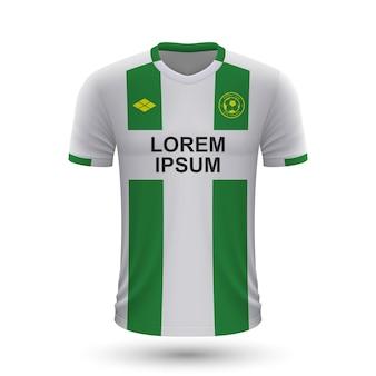 Maglia da calcio realistica groningen 2022, modello di maglia per footb