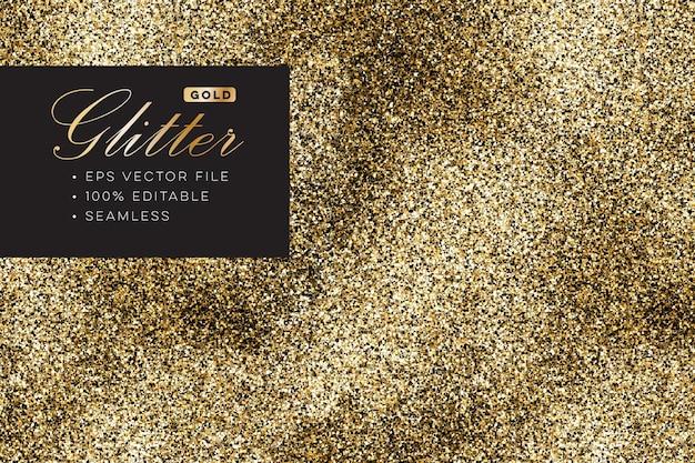 Glitter oro scintillante realistico senza soluzione di continuità
