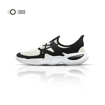 Sneakers sportive realistiche per allenamento e fitness