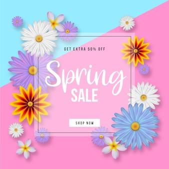 Illustrazione realistica di vendita di primavera