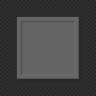 Cornice vuota quadrata realistica su sfondo trasparente.