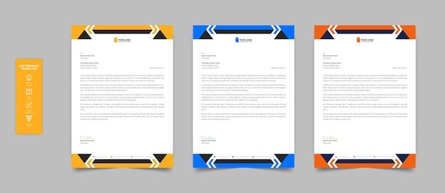 Design realistico di carta intestata di cancelleria