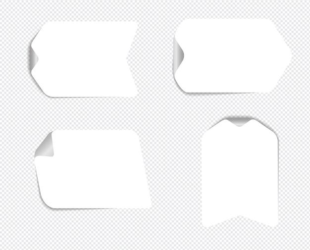 Note appiccicose realistiche isolate con ombra reale