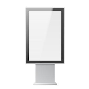 Illustrazione verticale realistica del tabellone per le affissioni della via