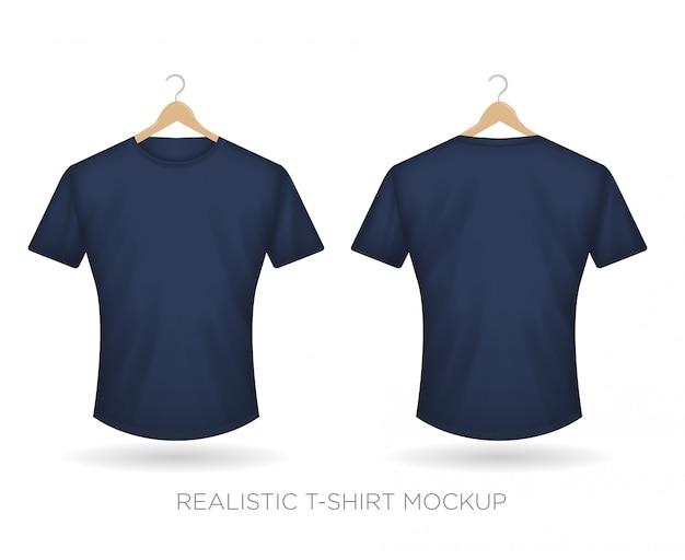 Maglietta realistica blu navy