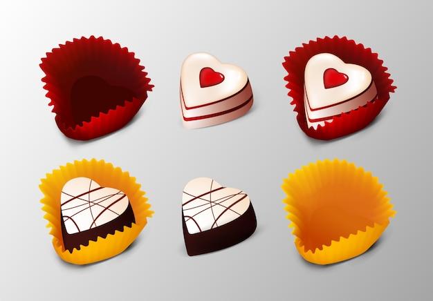 Collezione realistica di gustosi dessert
