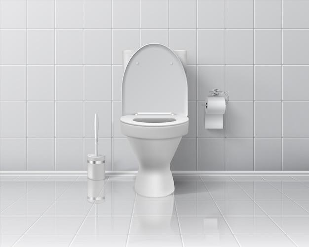 Illustrazione realistica della toilette