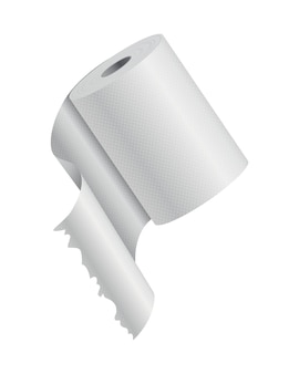 Carta igienica realistica o modello di rotolo di carta da cucina mockup. oggetto bianco vuoto. wc cucina whute carta nastro.
