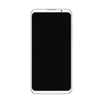 Smartphone bianco alla moda realistico