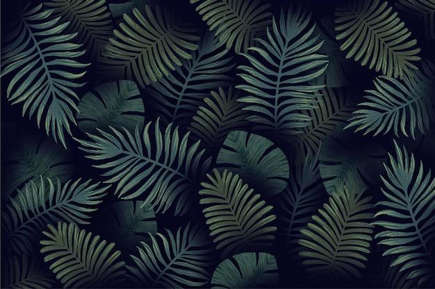 Sfondo realistico foglie tropicali