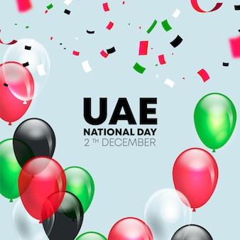 Evento realistico della giornata nazionale degli emirati arabi uniti