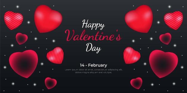 Fondo realistico dell'insegna di vendita di san valentino con il cuore