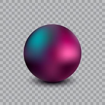 Illustrazione realistica della palla di vettore isolata su sfondo trasparente