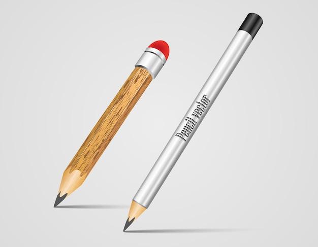 Icone realistiche della penna stilografica di vettore