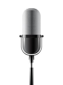Microfono realistico vettoriale