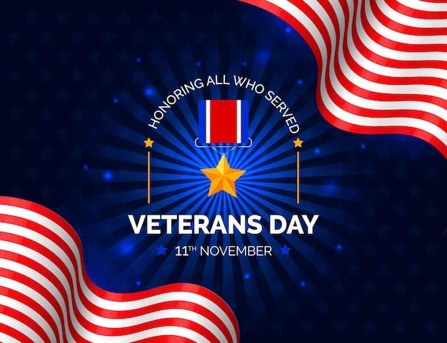 Carta da parati realistica del giorno dei veterani