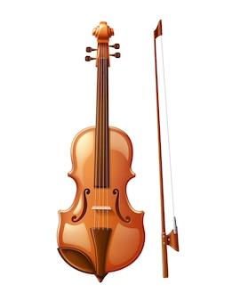 Violino realistico con fiddlestick