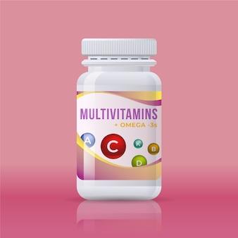 Pacchetto complesso vitaminico realistico