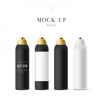 Realistica bottiglia bianca per cosmetici