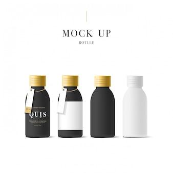 Contenitore per crema cosmetica bianco realistico