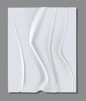 Foglio bianco realistico di carta stropicciata.