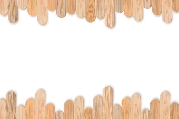 Bastoncini realistici in legno o plastica.