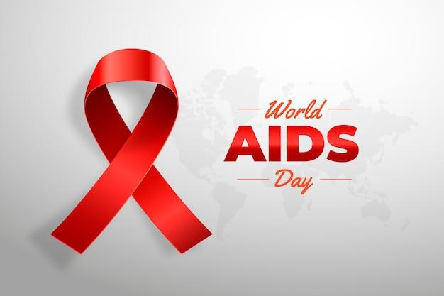 Sfondo realistico giornata mondiale contro l'aids