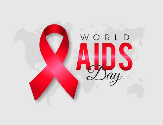 Giornata mondiale contro l'aids realistico con il nastro