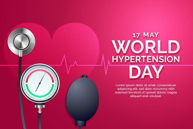 Illustrazione realistica della giornata mondiale dell'ipertensione