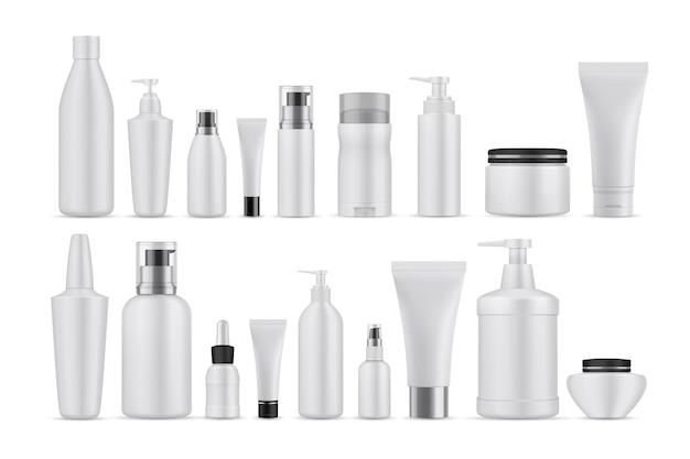 Set di lozioni cosmetiche realsitic.