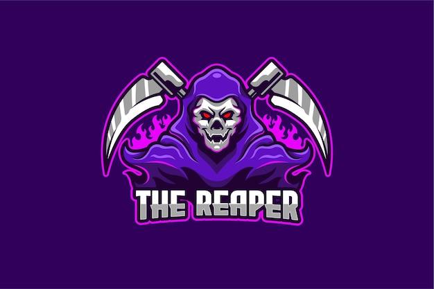 Il modello di logo di e-sport reaper